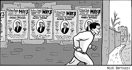 Panel from 'Houdini: The Handcuff King' by Nick Bertozzi and Jason Lutes