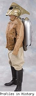 The Rocketeer screen-worn costume as auctioned