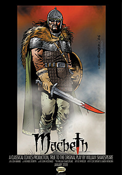 Cover art from Classical Comics' MacBeth