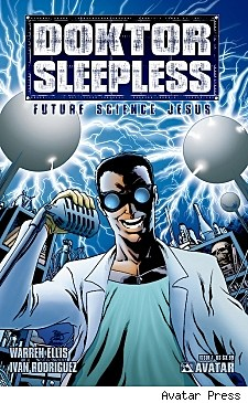 Cover art for Warren Ellis's Doktor Sleepless