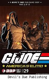 G.I. Joe: America's Elite #29 World War III cover