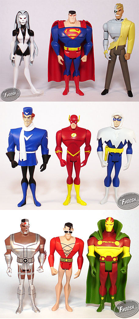 Justice League Unlimited Cyborg New jlu 3-packs feature flash's rogues ... Justice League Unlimited Cyborg