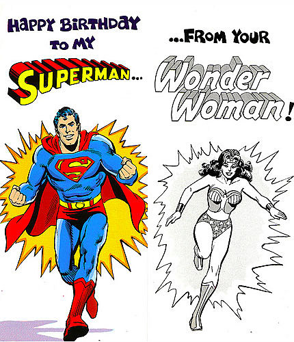 superman  friends greet fans in hilarious cards from, Birthday card
