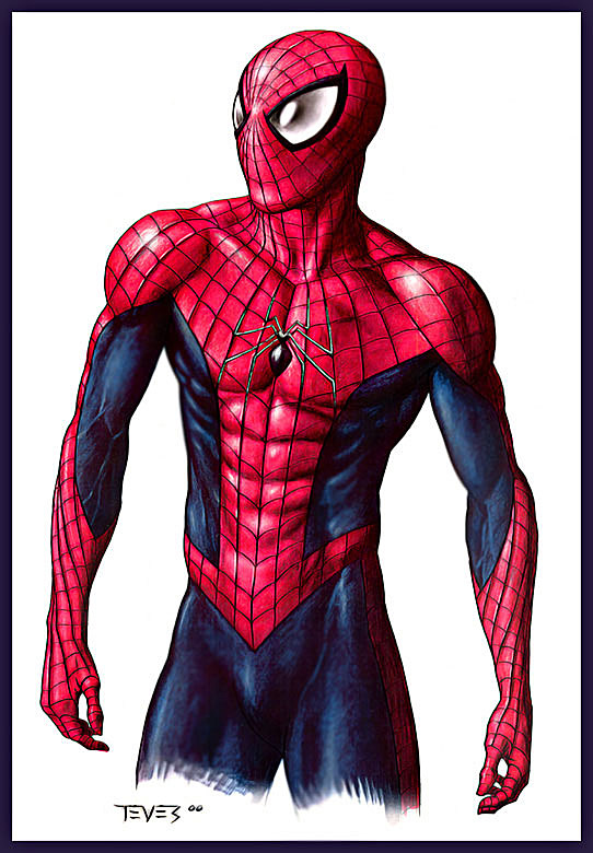 Spiderman standing