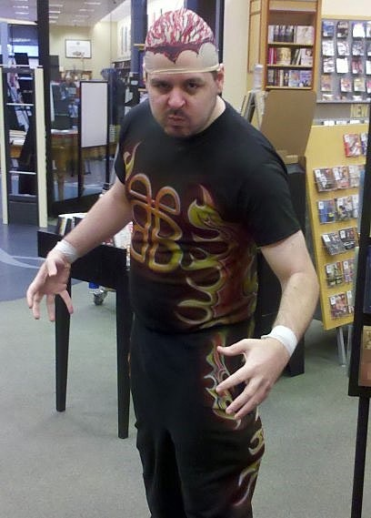 chris this has nothing to do with comics but itu0027s awesome wwf legend bam bam bigelow from that time he put pantyhose on his head and tried to rob a