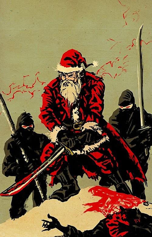 Santa vs. Ninjas: The Holiday Art Battle You've Been Waiting For