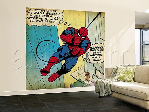 Marvel Wall Art retro marvel wall murals to replace your crummy lichensteins [art]