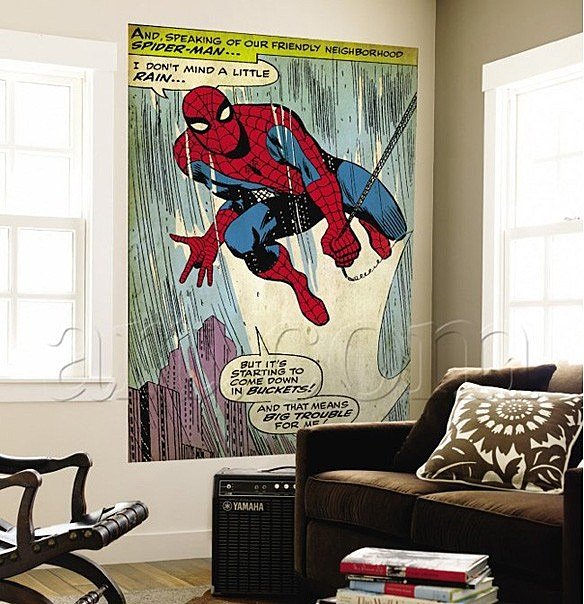 retro marvel wall murals to replace your crummy