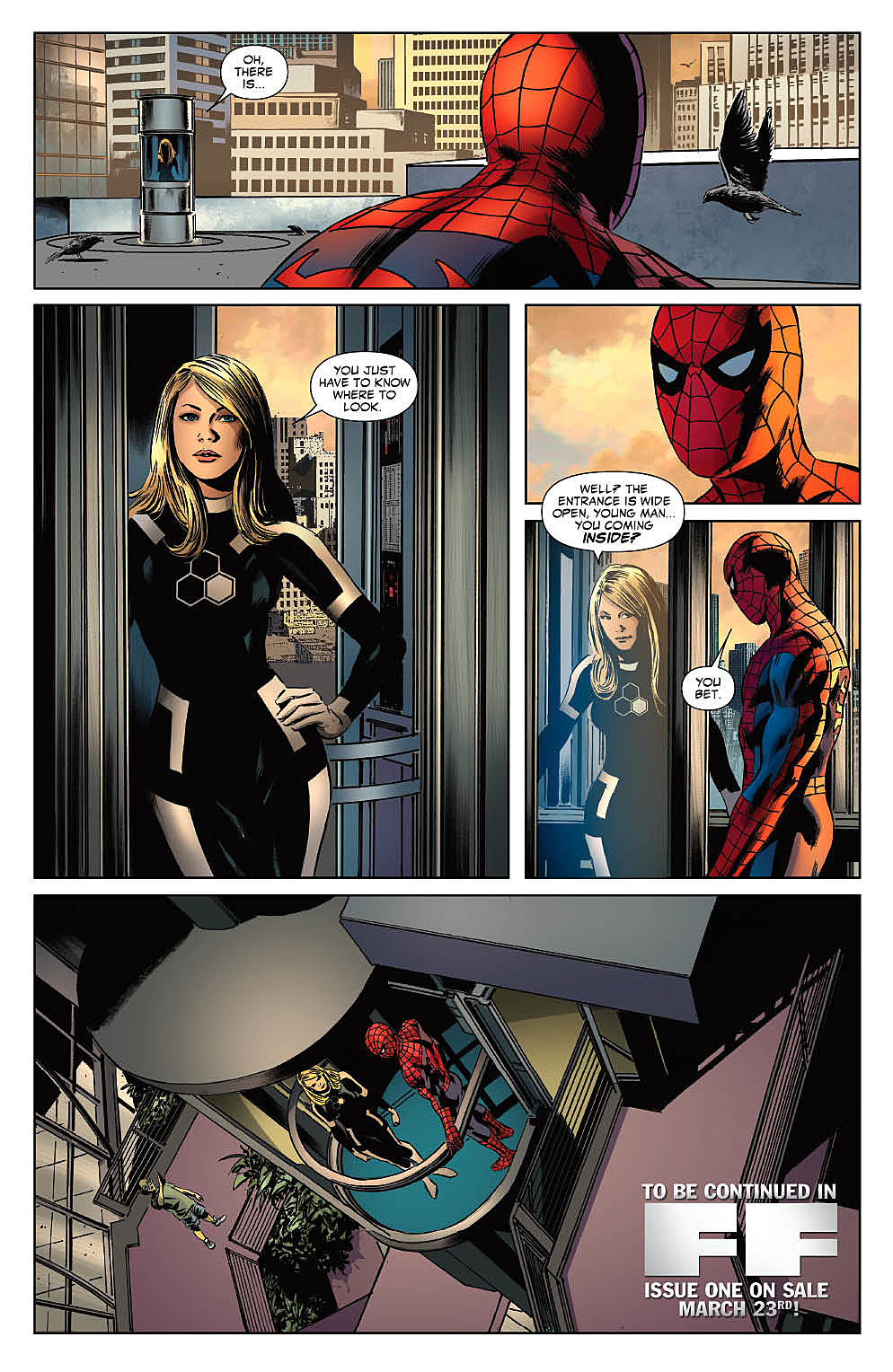 Ff 1 the fantastic four spider man the future foundation
