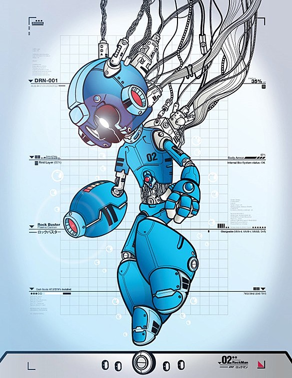 Mega Man Tribute Artwork That Dr Light Would Be Proud Of