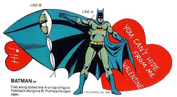 The Dubious Romantic Messages of 1980s Super Friends Valentines – Batman Valentines Day Card