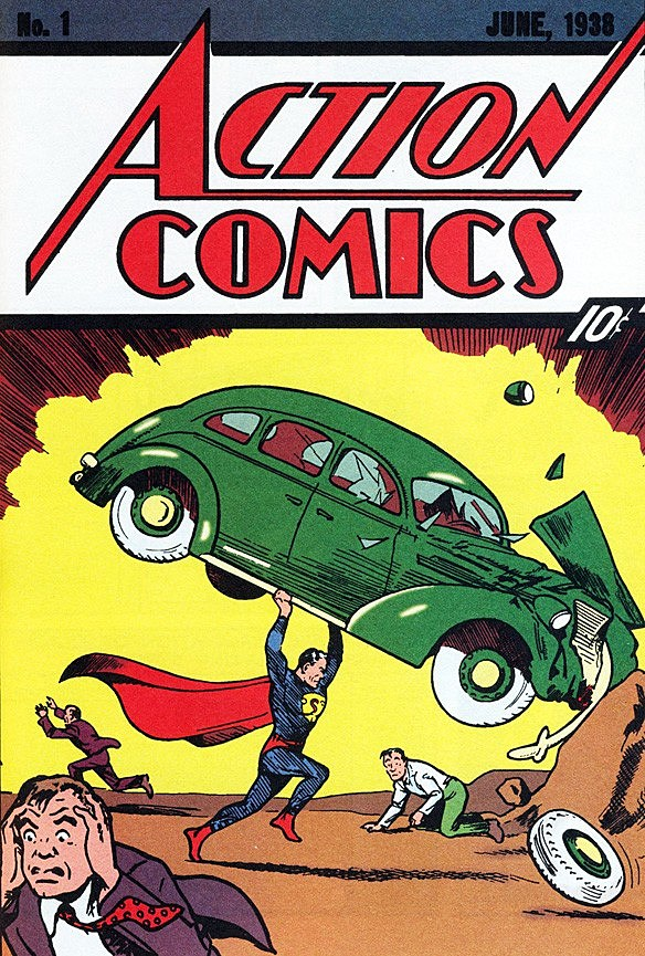 Superman Comic Book White Cover ~ The most awesome 'action comics covers of all time