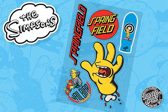 The Simpsons Shred On Stylish Santa Cruz Skateboards
