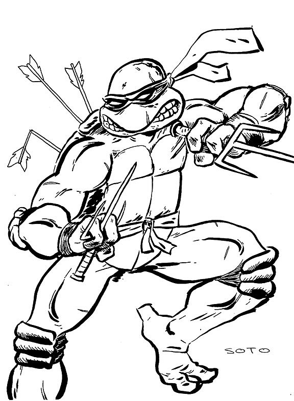 ralph ninja turtle coloring pages - photo#18