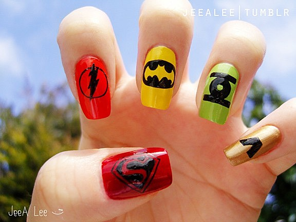 Superhero Manicures Comic Strips At Your Finger Tips Fashion