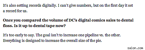 don t believe the hype decoding the news about digital comics s  behavior in this area i tend to view comic industry s hype announcements something of a jaundiced eye as tom spurgeon points out in his essay