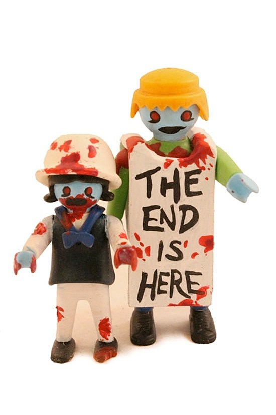 The Zombie Art Project Customizes Playmobil Figures Into