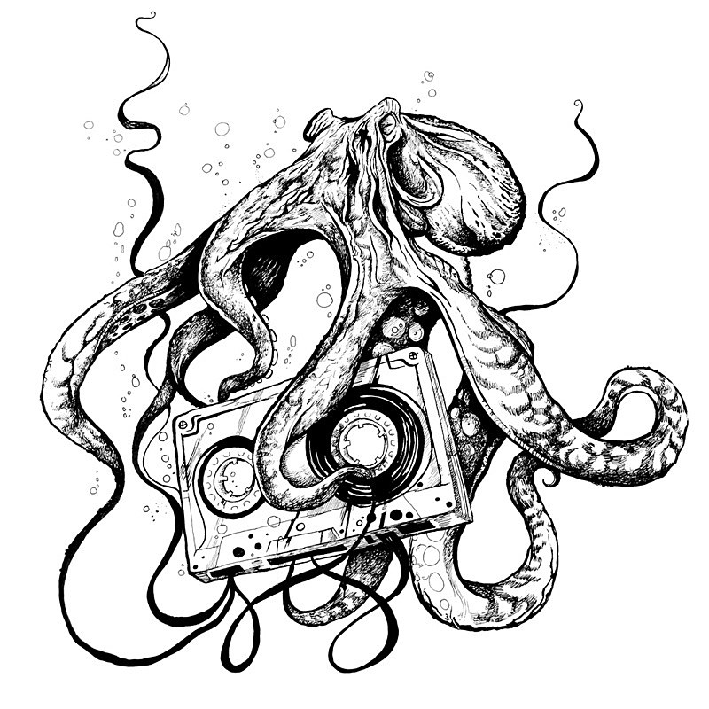 angry octopus drawing - photo #3