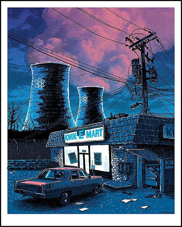 tim doyle paints the real estate of the simpsons