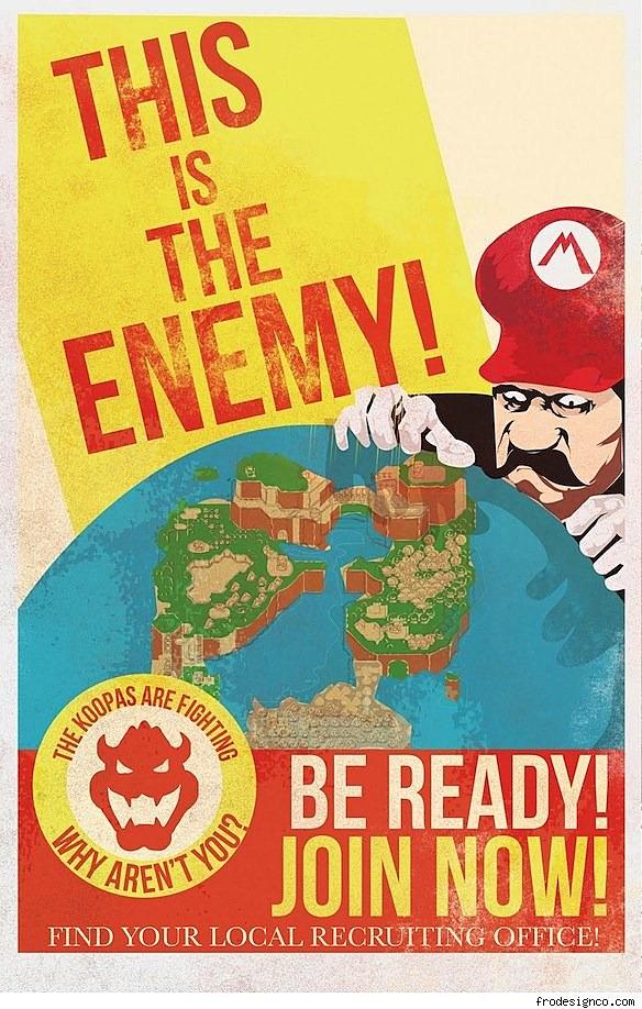 antimario propaganda from the mushroom kingdom art