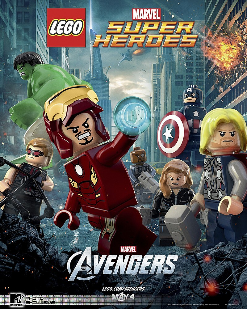 lego reveals the avengers movie poster and lego batman. Black Bedroom Furniture Sets. Home Design Ideas