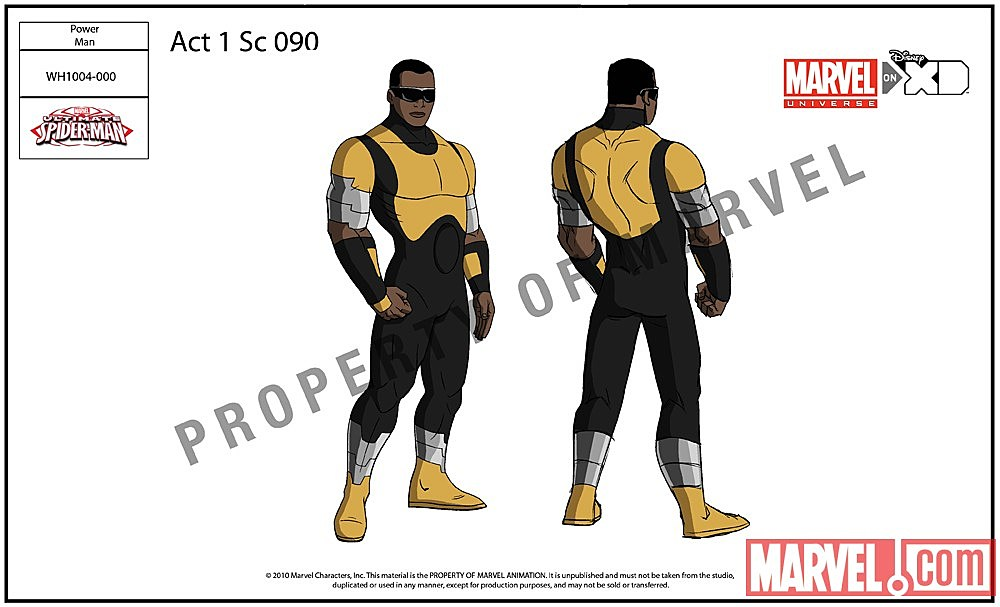 Luke Cage Ultimate Spider Man of Luke Cage from Ultimate