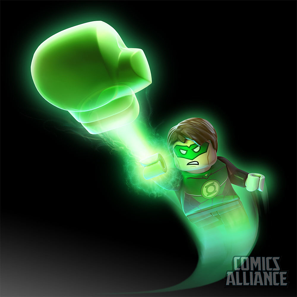 a first look at green lantern in u0027lego batman 2 dc super heroes u0027
