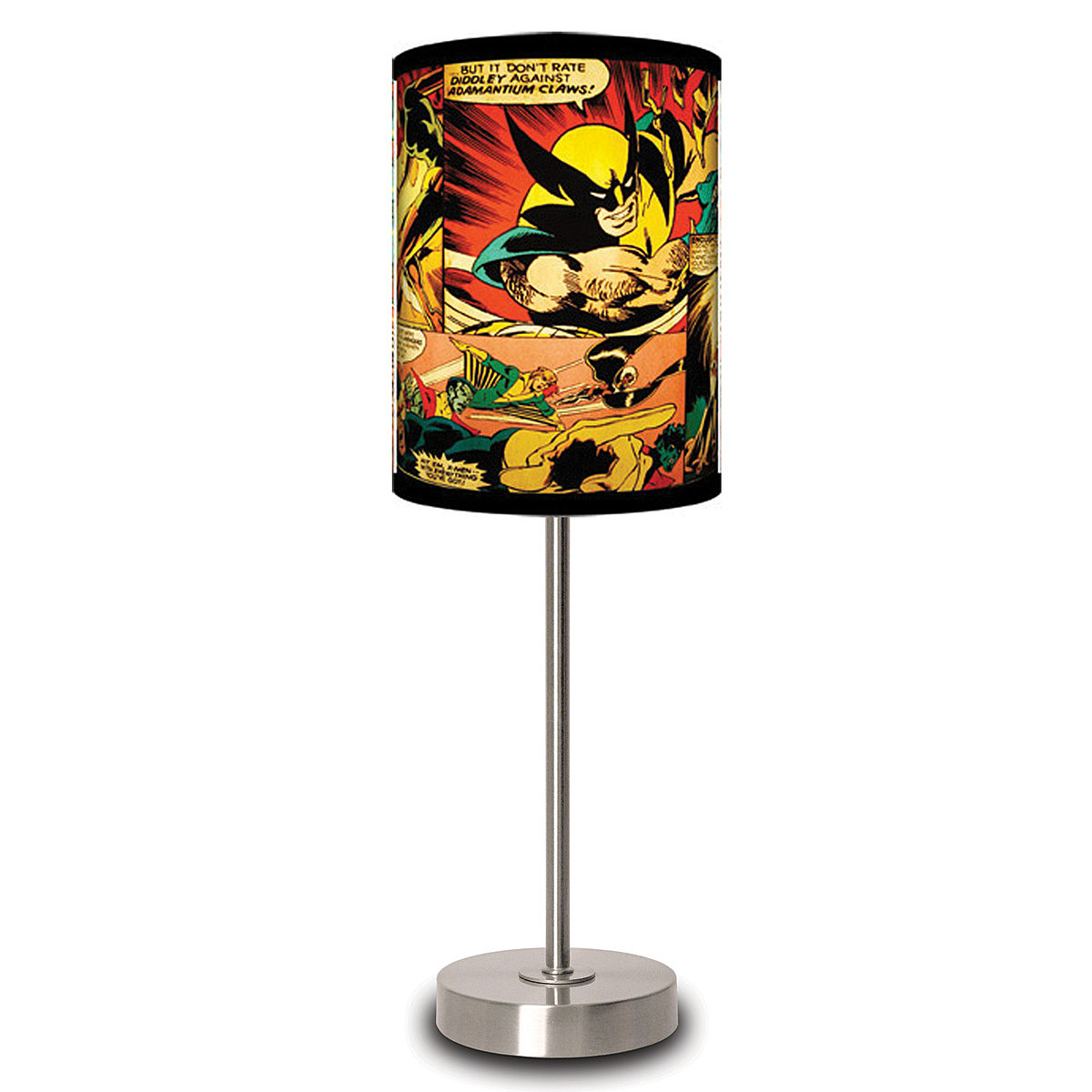Marvel Comics Table Lamps Illuminate Panels Of Your