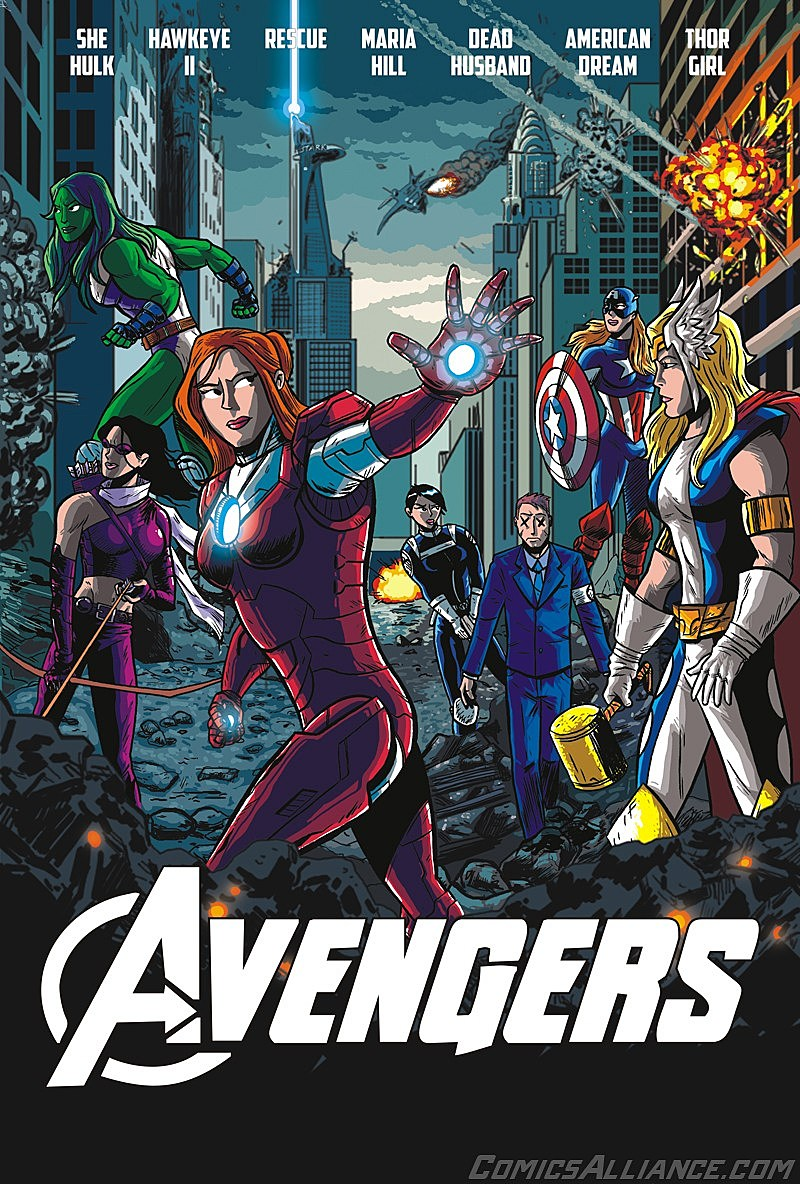 The Avengers' Movie Poster Remix: Earth's Mightiest Women