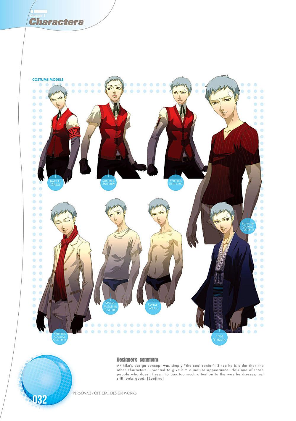 The Fashions and Art of 'Persona 3′ Designer Shigenori