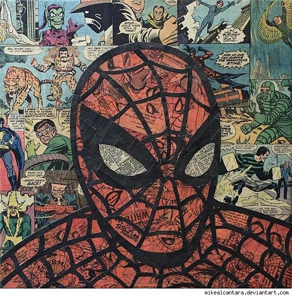 Art Of Comics And Manga: Mike Alcantara Turns His Comics Into Collages [Art]