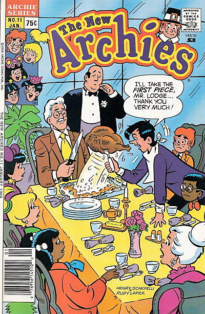 35 Comic Book Covers Celebrating Thanksgiving