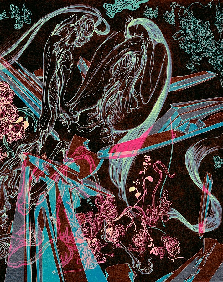 James jean celebrates launch of his accessory line with for Creating a mural