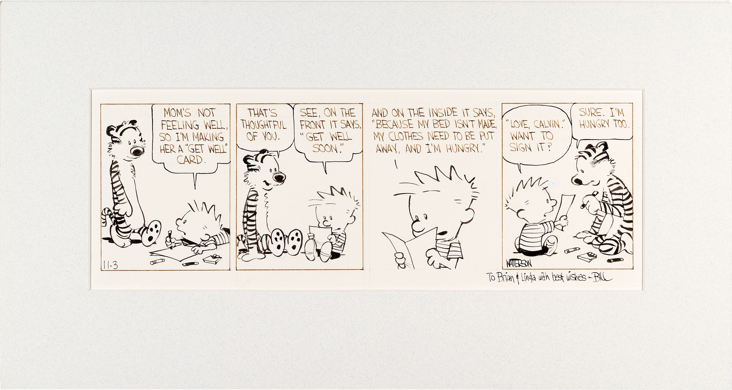 original 1986 u0027calvin and hobbes u0027 art goes up for auction