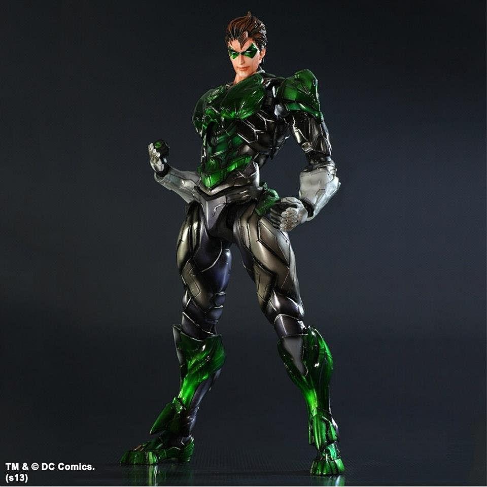 Official Play Arts Kai Wonder Woman, Batman And Green Lantern Figure