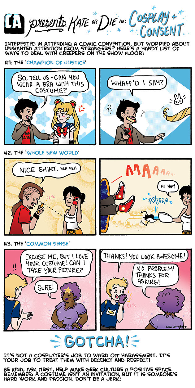 ComicsAlliance Presents Kate Or Die Cosplay and Consent Kate Leth