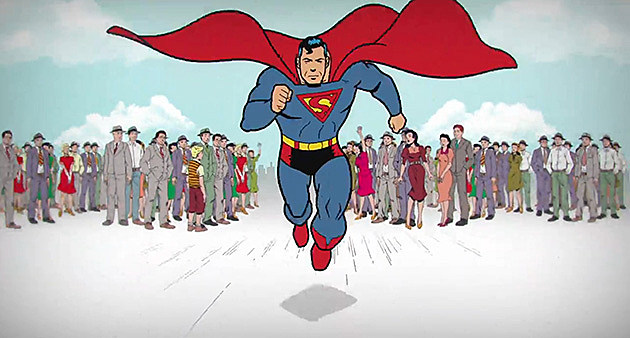 Superman 75 year animated history Zack Snyder Bruce Timm