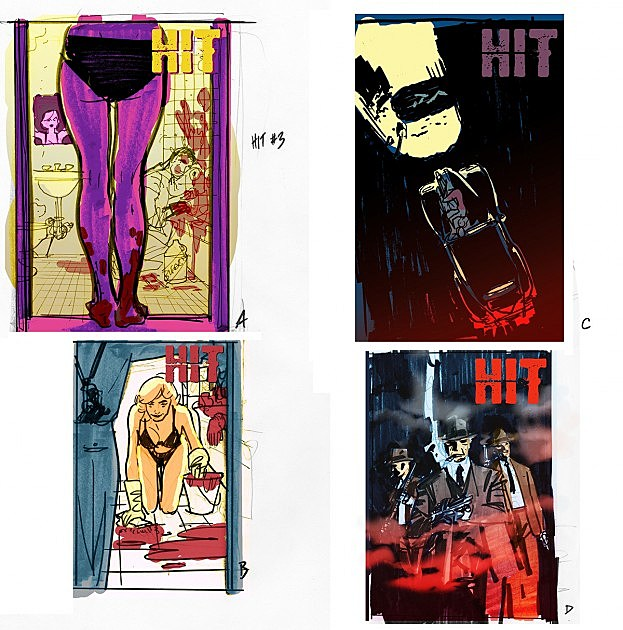 Boom Studios Hit Ryan Sook Cover #3 process ComicsAlliance roughs