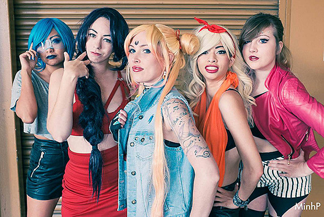 Bosozoku Sailor Scouts, cosplayed by Angel, Spaceasaur, Lolita Ratchet, SakuSakus, & Ashlen, photographed by MinhP