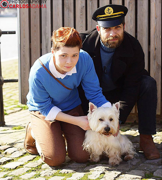 Tintin & Captain Haddock, cosplayed by Lil Prince Costumes & Samuel Peter Rendell, photographed by Carlos Adama Geek Photography