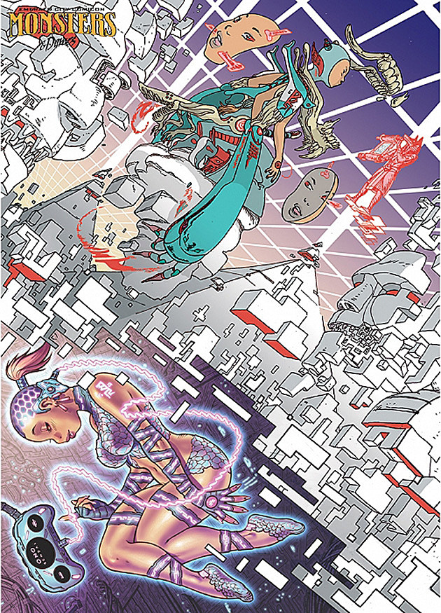 Emerald City Comicon 2014 Monsters Dames Brandon Graham, Simon Roy, Adam Warren