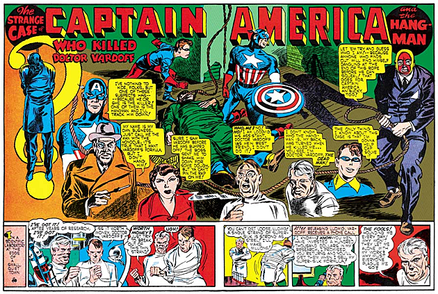 Captain America Runs Joe Simon and Jack Kirby