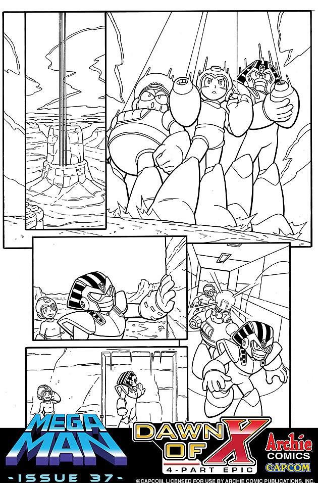 Mega Man: Dawn of X art