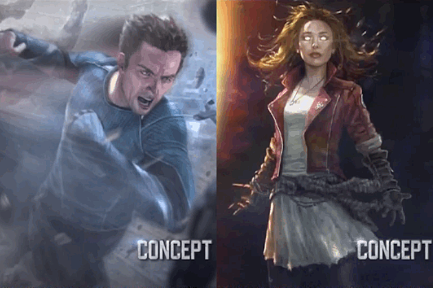 Scarlet Witch Quicksilver Avengers 2 concept art