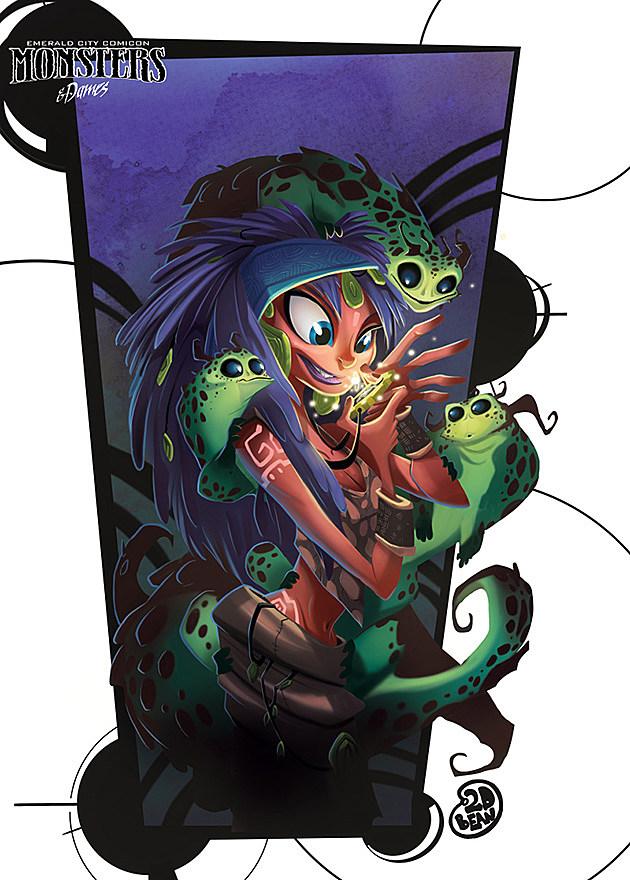 Emerald City Comicon Monsters Dames Brett Bean