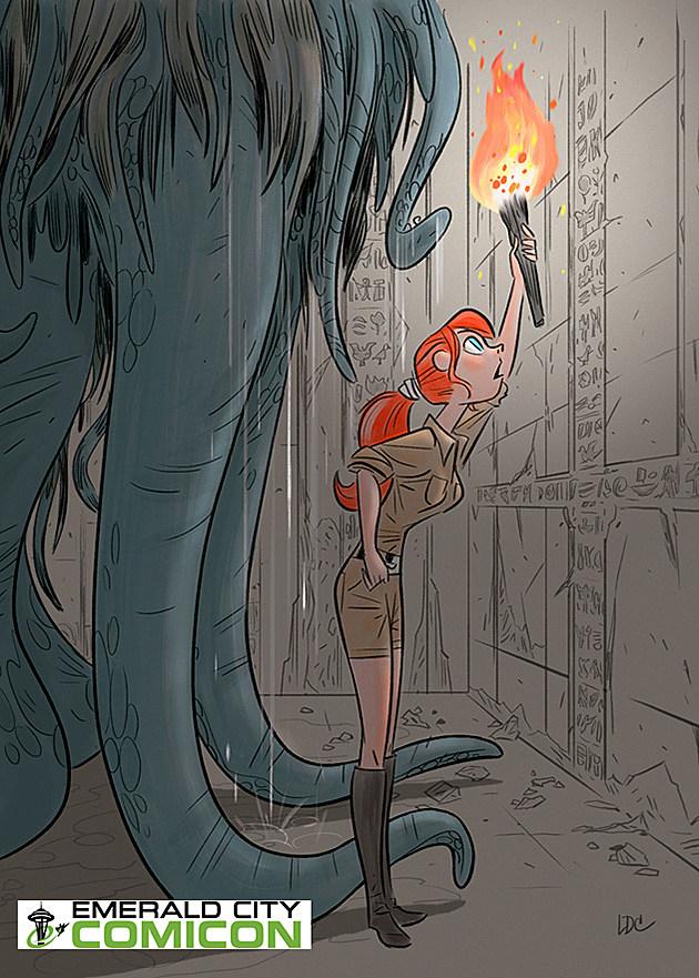 Emerald City Comicon 2014 Monsters Dames Louie Del Carmen