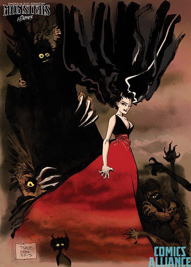Monsters and Dames Emerald City Comicon 2014 Tim Sale