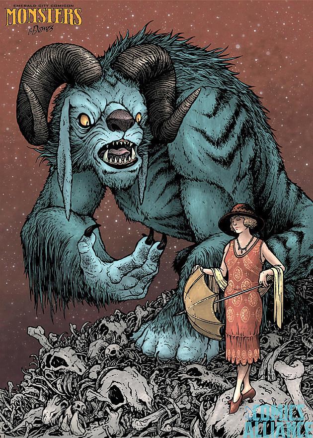 Emerald City Comicon Monsters Dames 2014 David Petersen