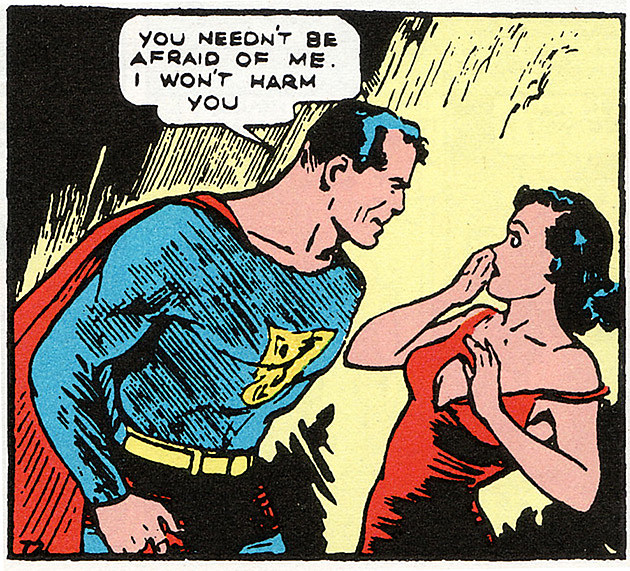 fake geek guys sexual harassment superman lois action comics golden age