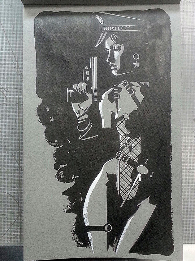 Sin City's Gail by Brian Stelfreeze